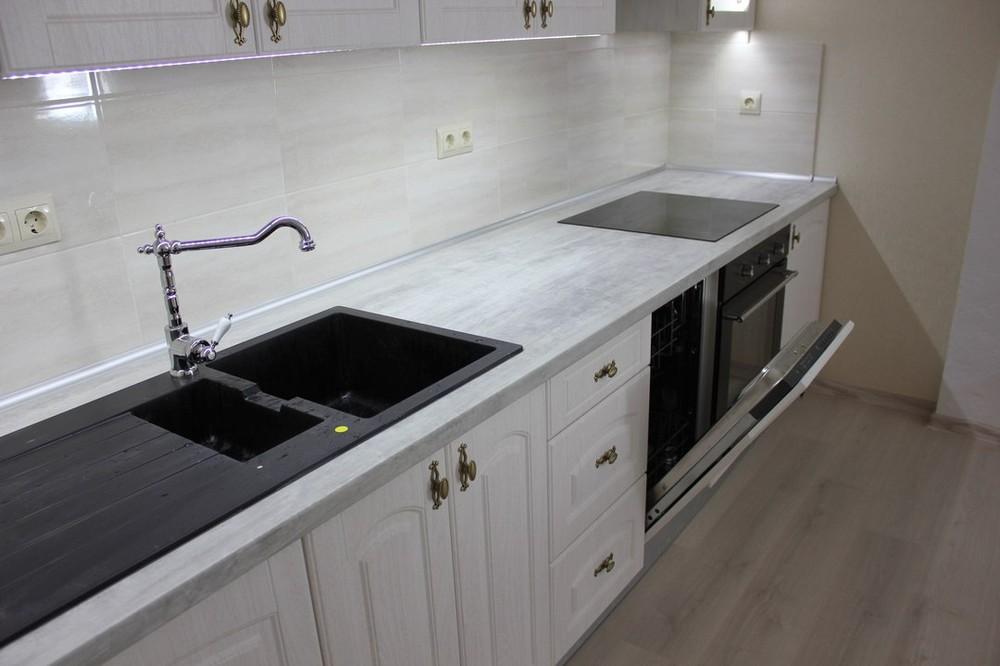 Акриловые кухни-Кухня из пластика «Модель 185»-фото3