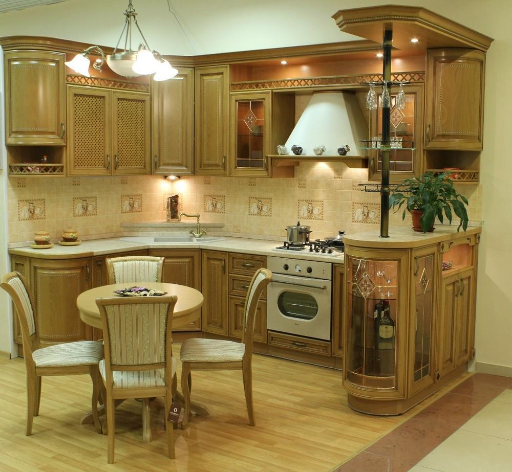 Классические кухни-Кухня из массива «Модель 127»-фото1