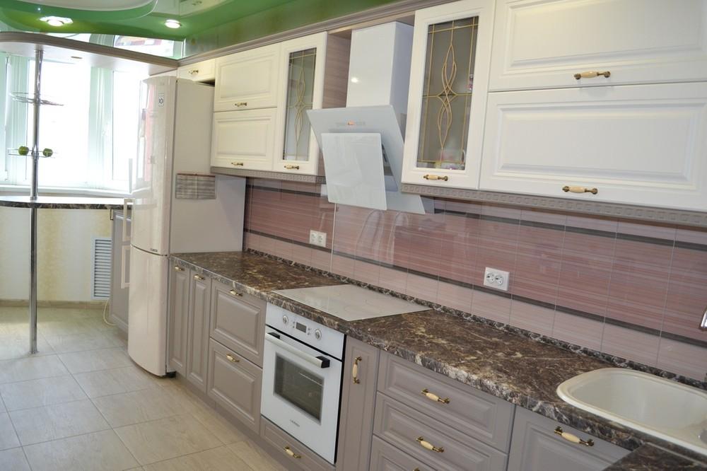 Встроенная кухня-Кухня МДФ в ПВХ «Модель 178»-фото4