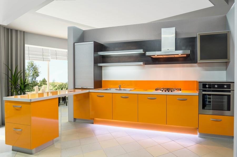 Глянцевые кухни-Кухня МДФ в ПВХ «Модель 44»-фото1