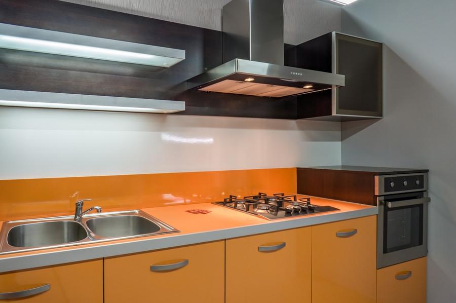 Глянцевые кухни-Кухня МДФ в ПВХ «Модель 44»-фото2