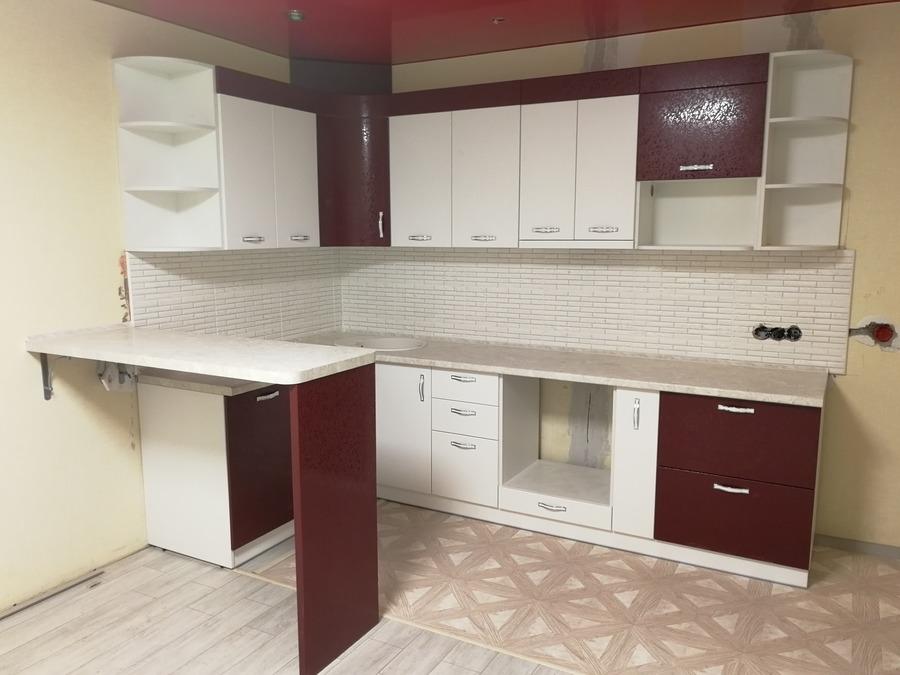 Встроенная кухня-Кухня МДФ в эмали «Модель 18»-фото1