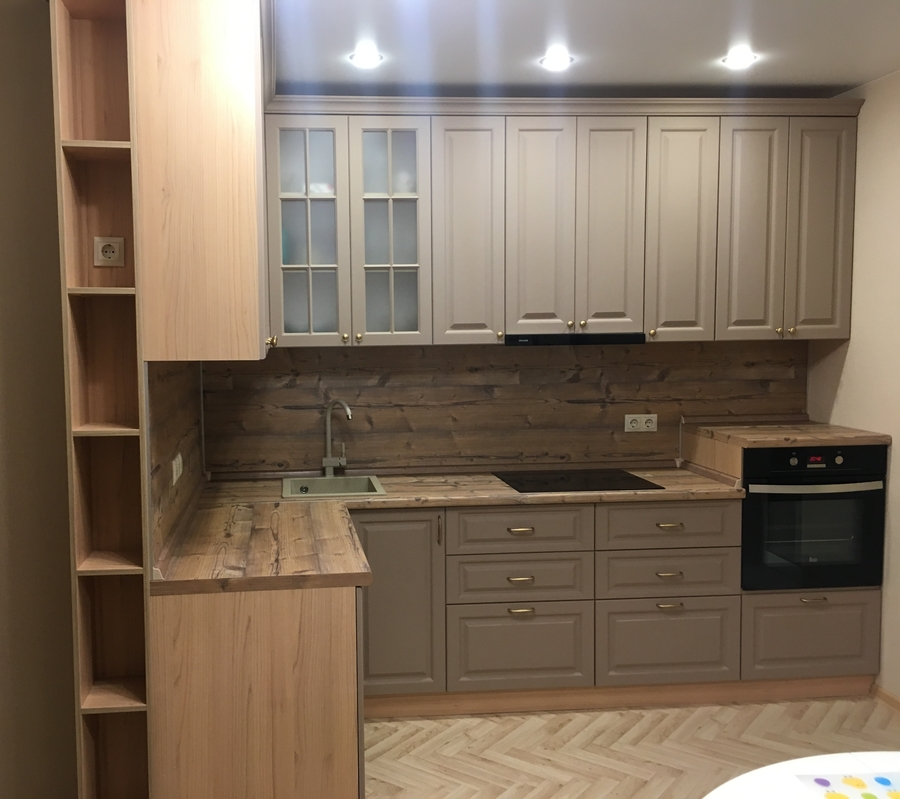 Классические кухни-Кухня МДФ в ПВХ «Модель 62»-фото1