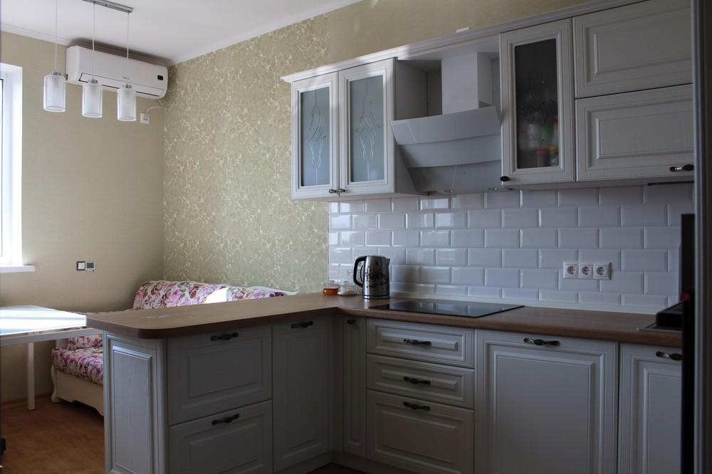 Белый кухонный гарнитур-Кухня МДФ в ПВХ «Модель 102»-фото7