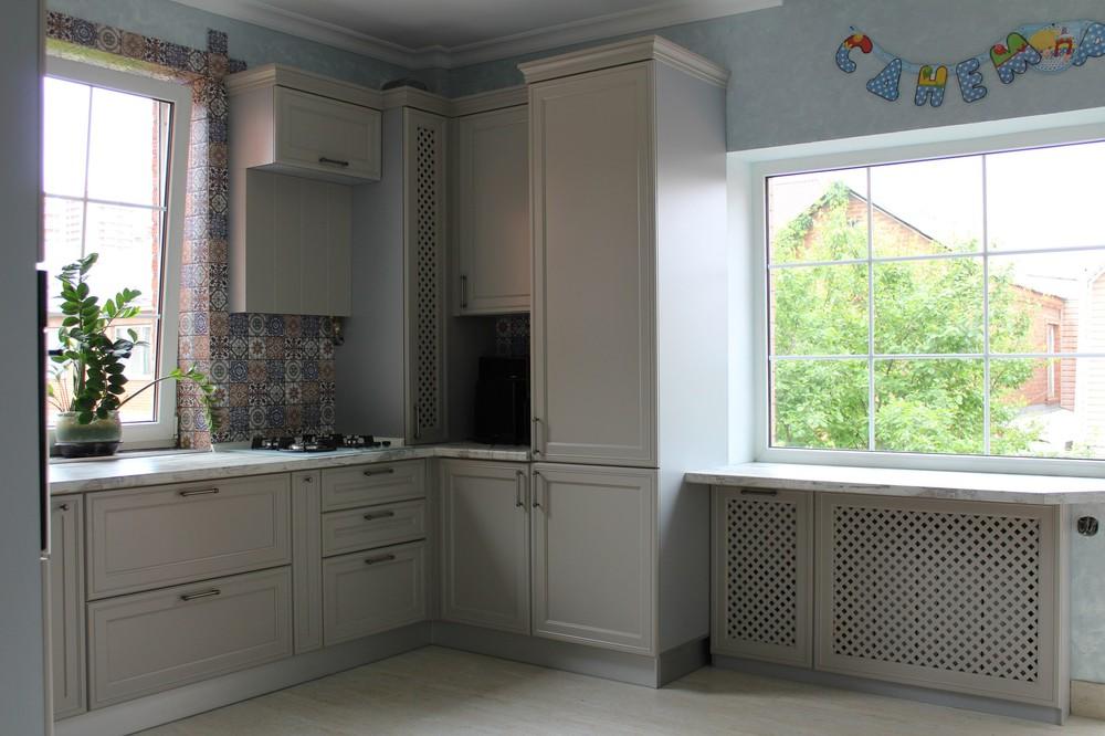 Встроенная кухня-Кухня МДФ в эмали «Модель 283»-фото2