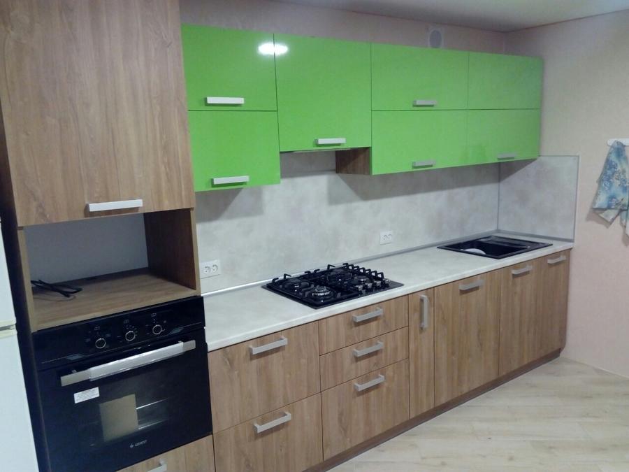 Встроенная кухня-Кухня из пластика «Модель 355»-фото1