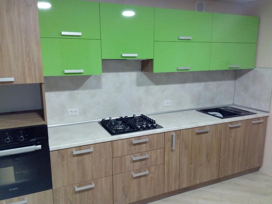 Встроенная кухня-Кухня из пластика «Модель 355»-фото2
