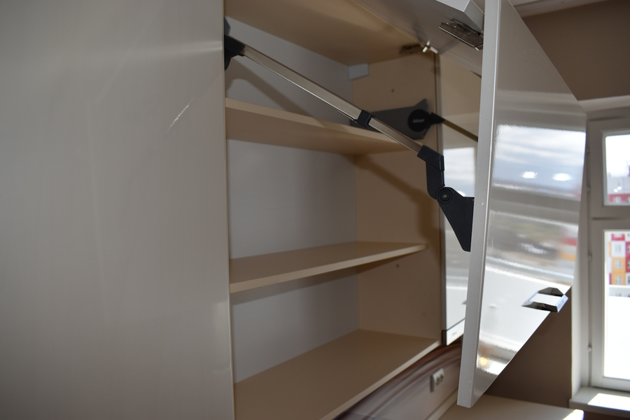 Белый кухонный гарнитур-Кухня МДФ в ПВХ «Модель 504»-фото12