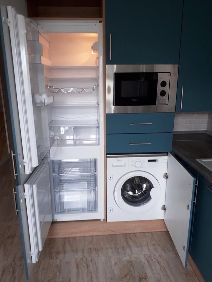 Белый кухонный гарнитур-Кухня из пластика «Модель 375»-фото4