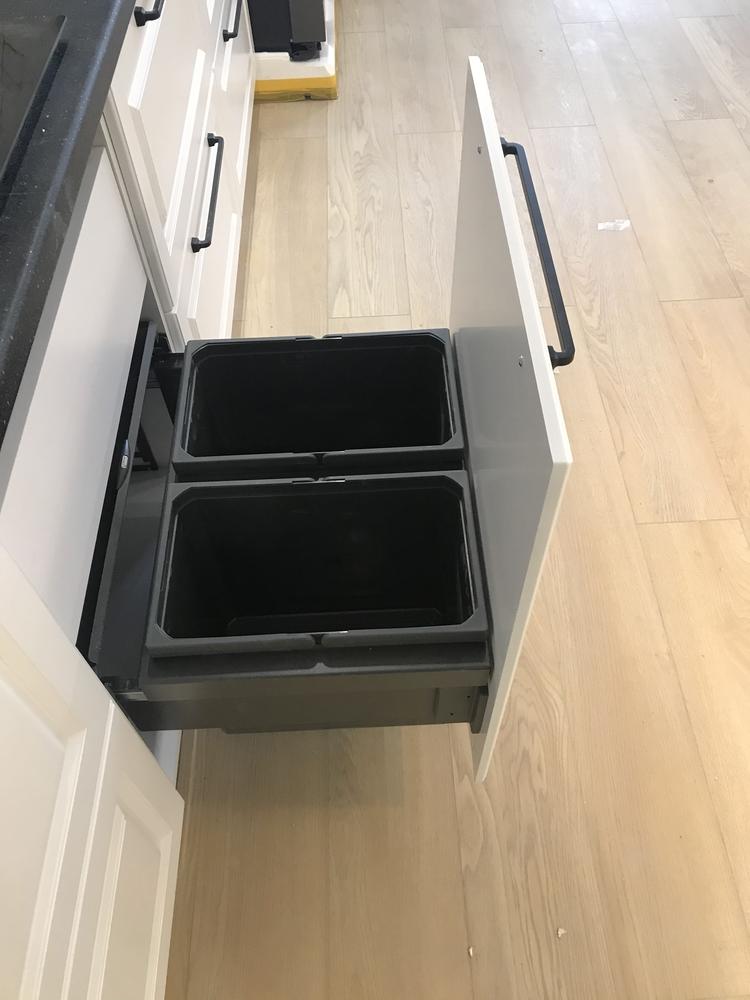 Белый кухонный гарнитур-Кухня МДФ в ПВХ «Модель 553»-фото11