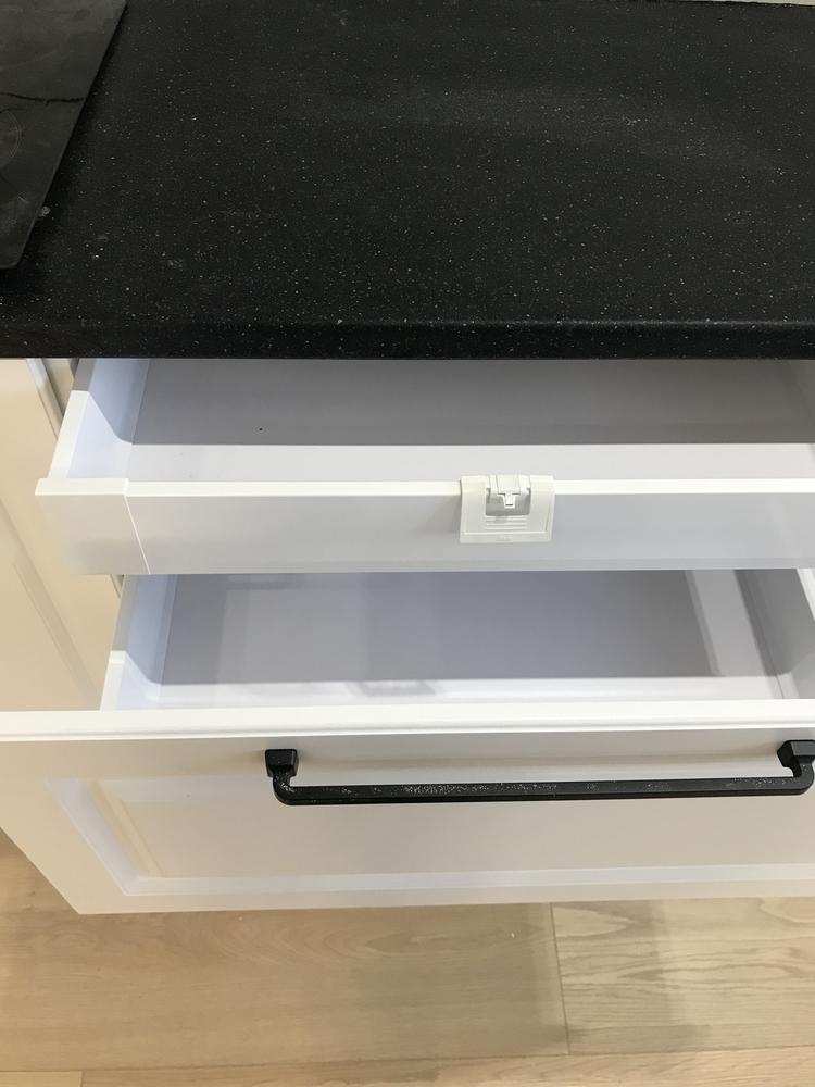 Белый кухонный гарнитур-Кухня МДФ в ПВХ «Модель 553»-фото9