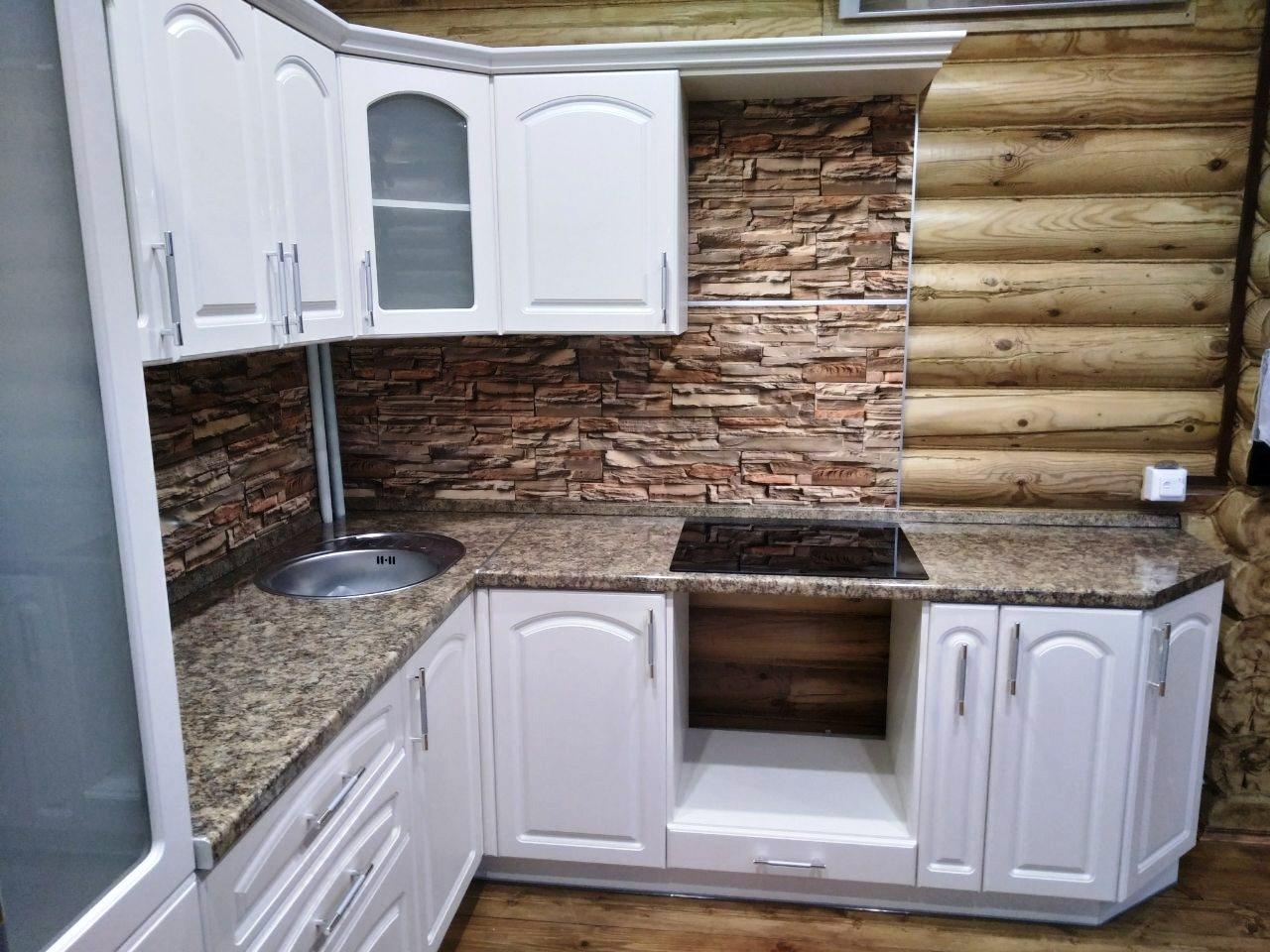 Белый кухонный гарнитур-Кухня МДФ в эмали «Модель 546»-фото3