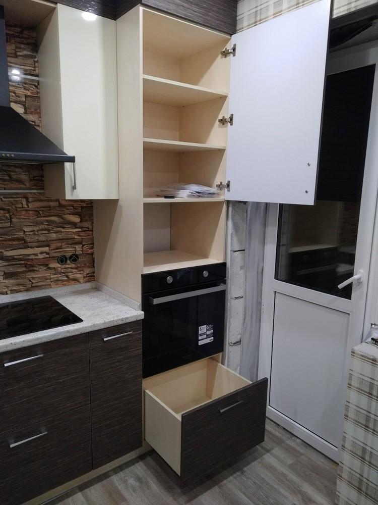 Белый кухонный гарнитур-Кухня МДФ в ПВХ «Модель 523»-фото5