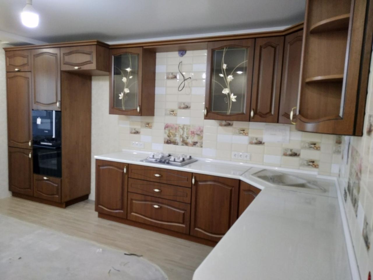 Классические кухни-Кухня МДФ в ПВХ «Модель 527»-фото4