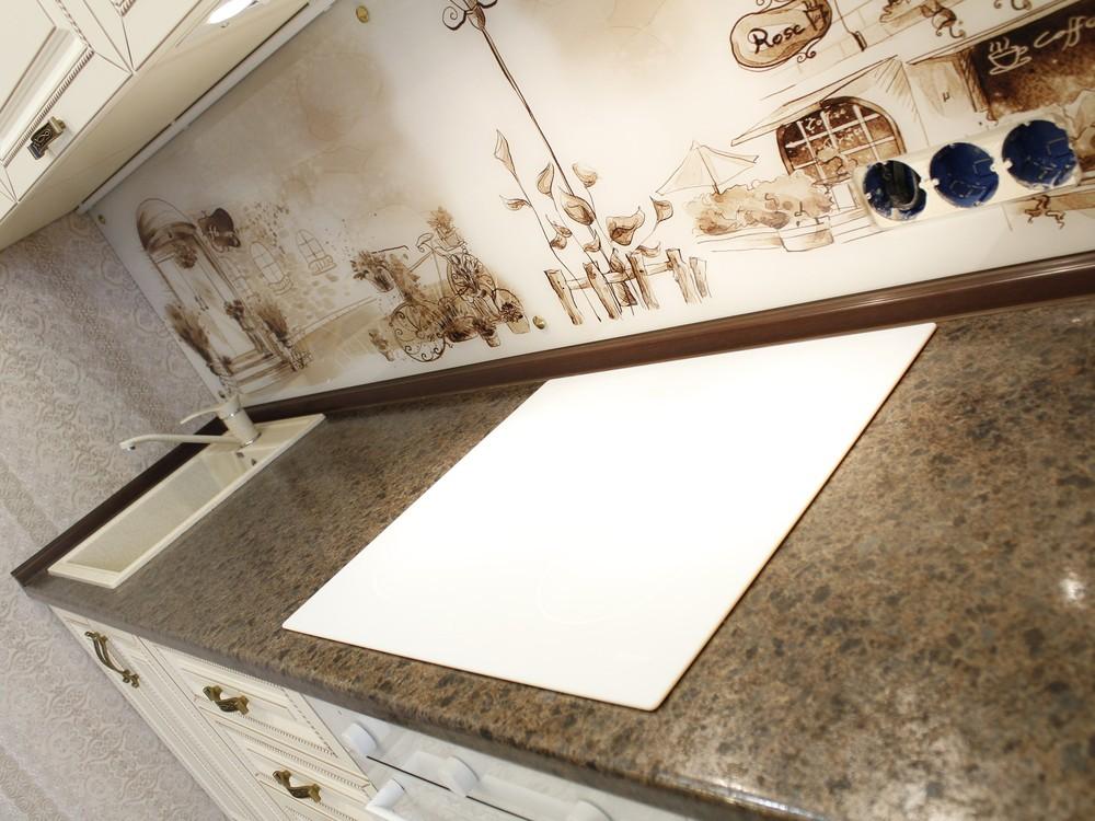 Белый кухонный гарнитур-Кухня МДФ в ПВХ «Модель 140»-фото6
