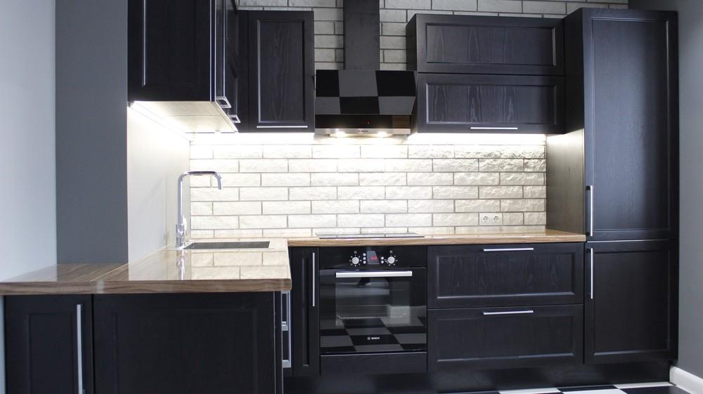Встроенная кухня-Кухня МДФ в ПВХ «Модель 153»-фото3