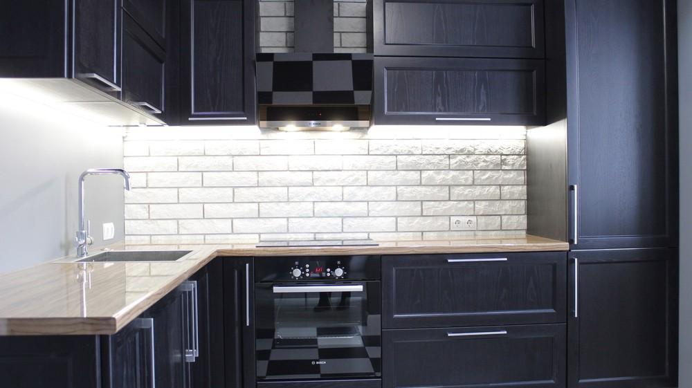 Встроенная кухня-Кухня МДФ в ПВХ «Модель 153»-фото4