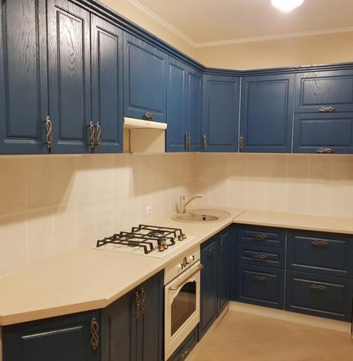 Встроенная кухня-Кухня МДФ в ПВХ «Модель 475»-фото2