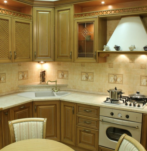 Классические кухни-Кухня из массива «Модель 127»-фото17