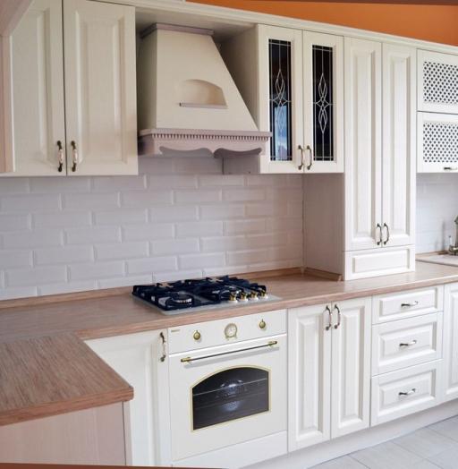 Белый кухонный гарнитур-Кухня МДФ в ПВХ «Модель 83»-фото3